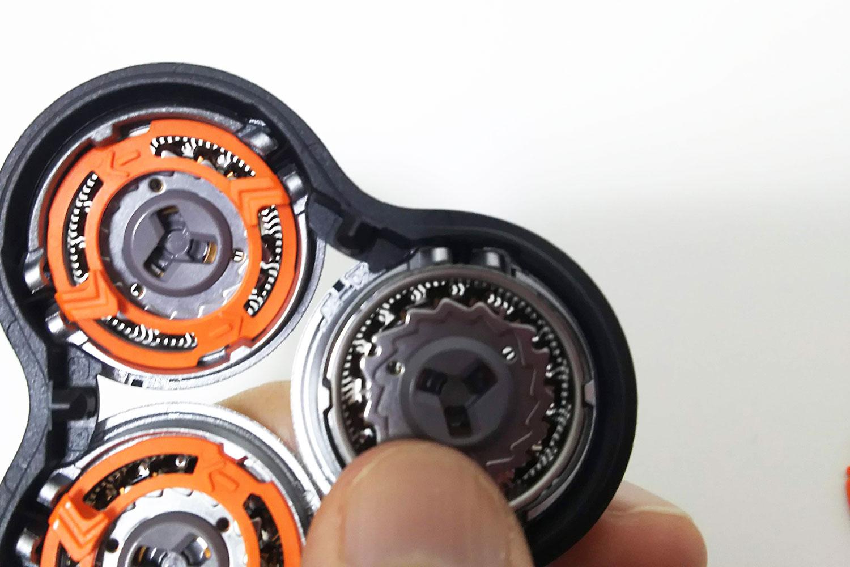 フィリップス シェーバー 回転式 3枚刃 お手入れ メンテ 構造