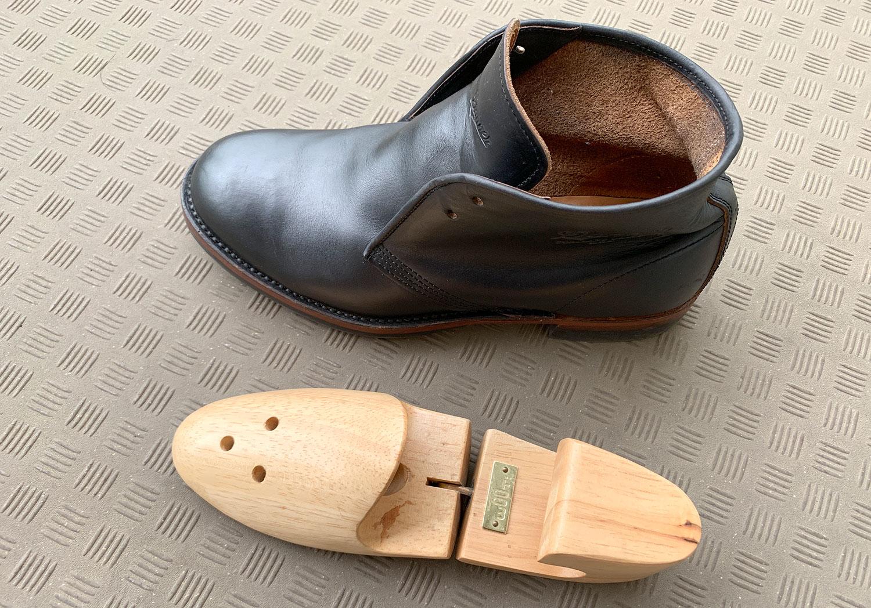 革ブーツ 長期保管