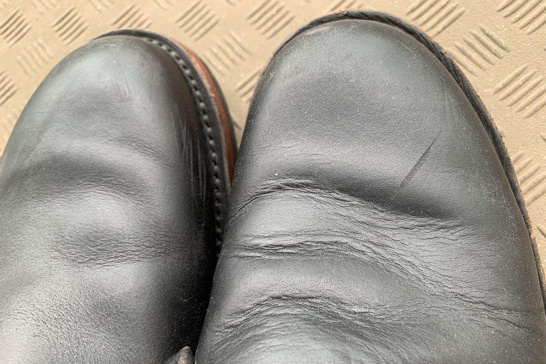 革 ブーツ ブラッシング