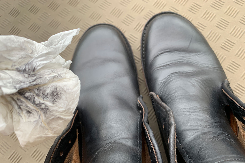 革ブーツ 中性靴クリーナー